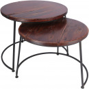 Wood.Table Esira set of 2, D59 / 54cm, natural